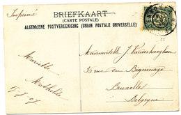 1907 ZICHTKAART OUDENBOSCH PAROCHIEKERK MET PZ55 V.OUDENBOSCH N.BRUXELLES(BELG) - Brieven En Documenten