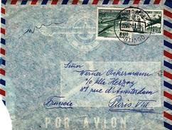 CHILI CHILE  1957     Correo Aéro Chile  De Santiago à Paris - Chile