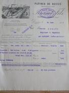 Facture Plâtres Plâtre De DECIZE JOURNOT 1914 Charbons Chambilly Par Marcigny - France