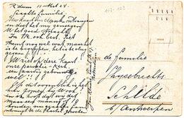 1924 ZICHTKAART ROTTERDAM KERK HOFLAAN MET PZ107+123 V.R'DAM N.SCHILDE(BELG) - 1891-1948 (Wilhelmine)
