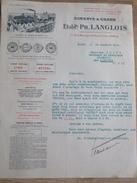 Lettre LANGLOIS Ciments Chaux Rue Crillon Paris 1932 Ciment Portland Charbons Chambilly Par Marcigny - France