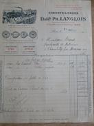 Facture LANGLOIS Ciments Chaux Rue Crillon Paris 1931 Ciment Portland Charbons Chambilly Par Marcigny - France