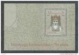 Lituanie BF N° 29 XX 750ème Anniversaire Du Couronnement Du Roi Mindaugas Le Bloc Sans Charnière, TB - Lithuania