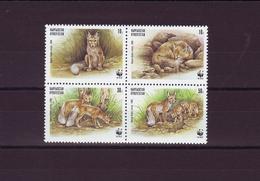 WWF - KIRGHIZSTAN 1999 - N⁰ Y&T 135/138  Le Renard Des Steppes. Neufs ** + FDC Et Cartes Postales - W.W.F.