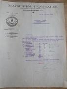 Lettre Expédition Maïseries Centrales DOMPIERRE BESBRE 1932 Farine Par Bateau Val D'Or Marinier BRAUD Chambilly - France