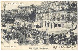 Cpa Nice - Le Marché - Marchés, Fêtes