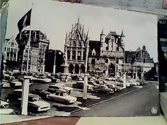 BELGIO  Mechelen, Grote Markt En Sint Romboutstoren - Malines, Gran'Place Et Tour St. Rombaut  AUTO CAR VB1964 FW9816 - Mechelen