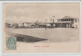 LIGNE N  PAQ . FR. N° 6 Sur CPA ( Place Menelik Djibouti ) De 1905 Pour Bordeaux TB - Schiffspost