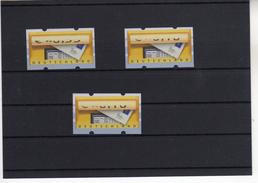 Bund Automatenmarken Postemblem 3 Marken Verschobener Werteindruck (  N  5866  ) - Automatenmarken