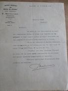 Lettre Huiles Pétrole BOSTNAVARON 1932 Farine BRAUD Chambilly Marcigny - France
