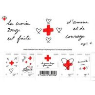 France Feuillet N°5001 Au Profit De La Croix-Rouge. Amour Et Courage - 2015 - Blokken En Velletjes