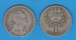 PORTUGAL  1 ESCUDO 1.946  Cu Ni/ALPACA  KM#578   MBC-/VF- DL-12.021 - Kilowaar - Munten