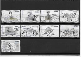 FRANCE 473-475-479 à 484 Oblitérés Vague - Sellos Autoadhesivos