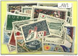 France  Années Completes Neuves ** Luxe 1963 (38 Timbres) - France