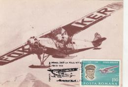 PLANES, FOKKER F VII, FIRST NORTH POLE FLIGHT, CM, MAXICARD, CARTES MAXIMUM, 1981, ROMANIA - Airplanes