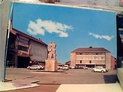 BELGIO-BELGIQUE LA LOUVIERE  TEATRO THEATRE AUTO CAR VW BEETLE E REANULT R 4  V1968 FW9822 - La Louvière