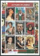 Senegal  1999   Sc#1347  Cinema Actors Souv Sheet  MNH**   2016 Scott Value $7 - Senegal (1960-...)