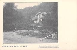 Belgique (Liège-)  SPA  Chalet Du Parc  Eaux Minérale Ferrugineuses Chlorose Anémie Neurasthénie (Cpa DOS SIMPLE) - Spa