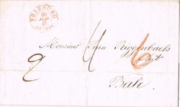20799. Carta Entera FRIBOURG (Suisse) 1848 A Basel - 1843-1852 Kantonalmarken Und Bundesmarken