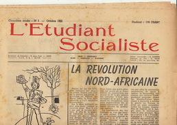 Journal Ancien étudiant Université De Liège L'ETUDIANT SOCIALISTE Octobre 55 - Journaux - Quotidiens