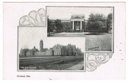 RB 1136 - Early Un-Divided Back Postcard - Newburgh State Hospital & Lake Side Hospital - Cleveland Ohio USA - Cleveland