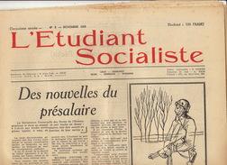 Journal Ancien étudiant Université De Liège L'ETUDIANT SOCIALISTE Novembre 55 - Journaux - Quotidiens