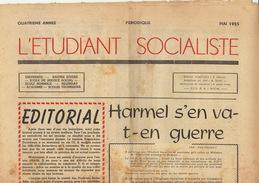 Journal Ancien étudiant Université De Liège L'ETUDIANT SOCIALISTE Mai 55 - Journaux - Quotidiens