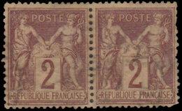 France 1876. ~ YT 85 Paire - 2 C. Type Sage - 1876-1898 Sage (Type II)