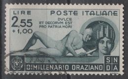 1936 Bimillenario Orazio 2,55 L. US - Usati