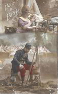 Pour La Patrie - Militaire Et Femme Au Foyer (près D'un Enfant Malade) - Carte Patrie, Série 16 - Patriottisch