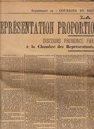 Journal Ancien Politique LA REPRESENTATION PROPORTIONNELLE Discours De Helleputte - Journaux - Quotidiens