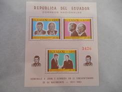 Y364 Ecuador, Equador Mnh Block Souv.sheet 44, John F Kennedy - Ecuador