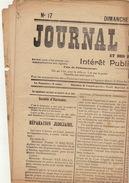 Journal Ancien JOURNAL DE RENAIX 27 Avril 1913 D'hauwer - Van Dille Paul Janson Grève - Journaux - Quotidiens