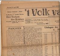 Journal Ancien 'tVOLK VAN RONSE Renaix Politique élection Résultat 1925 - Journaux - Quotidiens