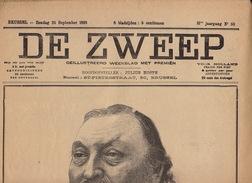 Journal Ancien DE ZWEEP Gravure Alfred Van Neste Peter Peter Henoit 25 Septembre 1898 - Journaux - Quotidiens