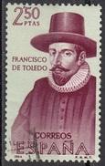 """1276 Spagna 1964 Franciscode Toledo (1516-1582)  """"Le Informaciones"""" Used Spain Espana - American Indians"""