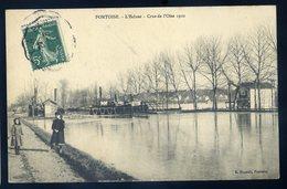 Cpa Du 95  Pontoise  -- L' écluse -- Crue De L' Oise 1910      YPO10 - Pontoise