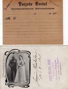 Espagne   2 Cartes Postales   Affranchies Avec Timbre - Lettres & Documents