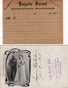 Espagne   2 Cartes Postales   Affranchies Avec Timbre - 1889-1931 Royaume: Alphonse XIII