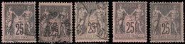 France 1878. ~ YT 97 Par 63 - 25 C. Type Sage - 1876-1898 Sage (Type II)
