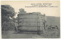Cpa Etablissements C. Delhommeau à Cléré - Grand Appareil Démontable En Panneaux Verticaux ...   ((S.1810)) - France