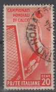 1934 Mondiali Calcio Valore Singolo Usato - 1900-44 Vittorio Emanuele III