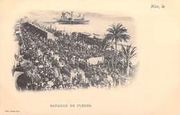 [06] Alpes Maritimes > NICE Bataille De Fleurs  (carnaval)  ( Cpa DOS SIMPLE - Editions Giletta Nice ) *PRIX FIXE - Carnaval