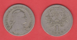 PORTUGAL  1 ESCUDO 1.930  Cu Ni/ALPACA  KM#578   MBC-/VF- DL-12.026 - Mezclas - Monedas
