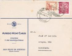 20810. Frontal Comercial SAN FELIU De GUIXOLS (Gerona) 1954 - 1931-Aujourd'hui: II. République - ....Juan Carlos I