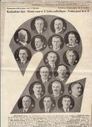 Election Politique Catholique Octobre 1932 Delghust Ponette Delouvroy Delanghe Cambier Vanlancker ... - Historical Documents