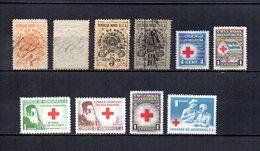 Honduras  1898-1965 .- Y&T  Nº   1/2 - 4/5   Fiscales  Y   1/5   Beneficencia - Honduras