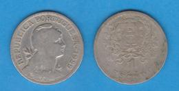 PORTUGAL  1 ESCUDO 1.929  Cu Ni/ALPACA  KM#578   BC/MBC  F/VF   T-DL-12.028 - Mezclas - Monedas