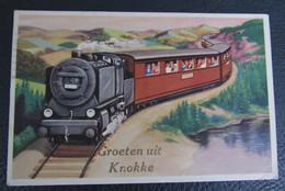 Cpa/pk Groeten Uit Knokke Trein Loco Train - Knokke
