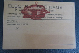 Cpa/pk Gent Briefkaart Electric-bobinage Colpaertsteeg 9 Dynamos Alternateur - Gent